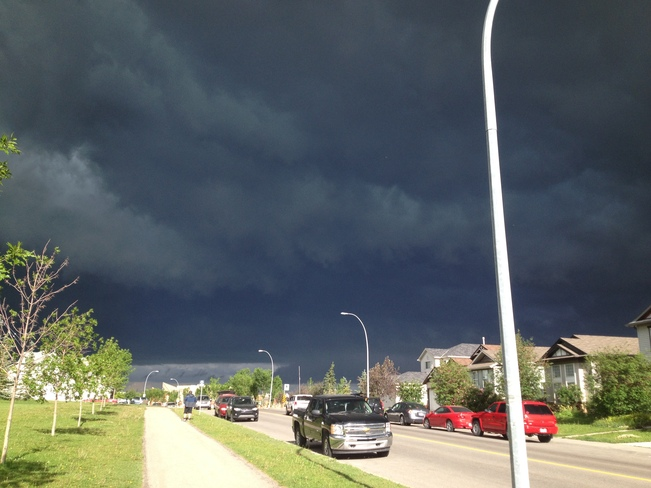 Storm Clouds Rolling By Calgary, Alberta Canada