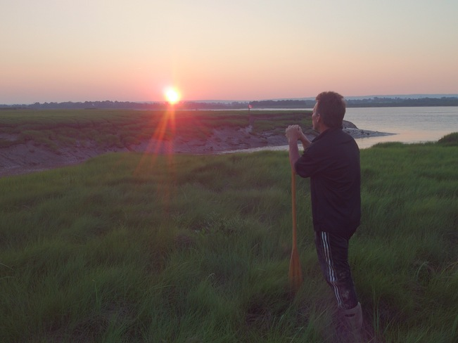 Watching The Bright Sunset Wolfville, Nova Scotia Canada