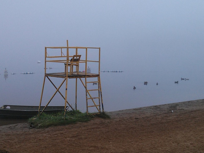 Foggy Morning on Little Lake Peterborough, Ontario Canada