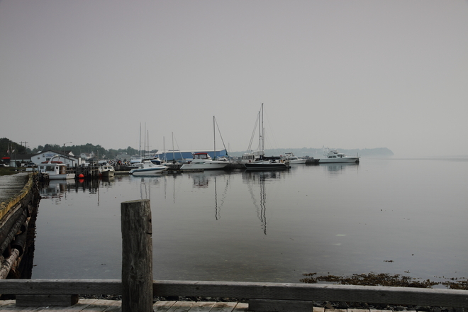 Scene partly obscured by smoke Bay Roberts, Newfoundland and Labrador Canada
