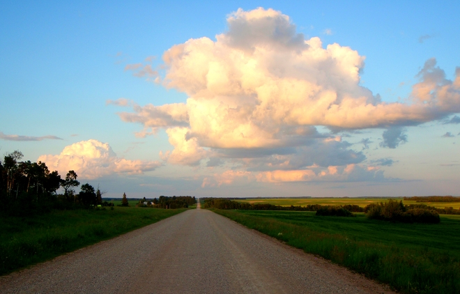 Beautiful clouds Melfort, Saskatchewan Canada