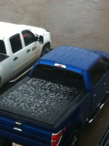 hail and lightening Fort McMurray, Alberta Canada