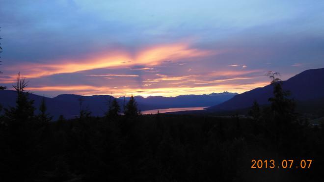 Sunset Nakusp, British Columbia Canada