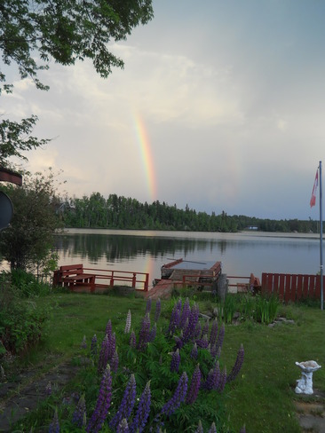Beautiful rainbow Sioux Lookout, Ontario Canada