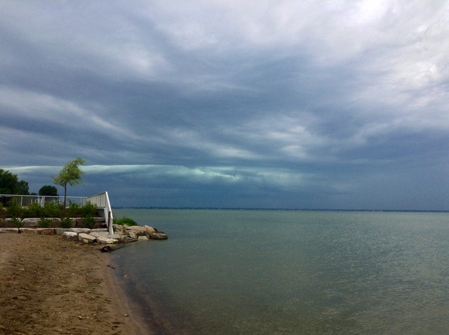 Approaching storm St. Clair Beach, Ontario Canada
