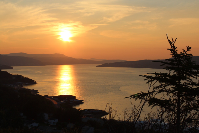 Sunset Corner Brook, Newfoundland and Labrador Canada