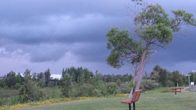 Storm coming Timmins, Ontario Canada