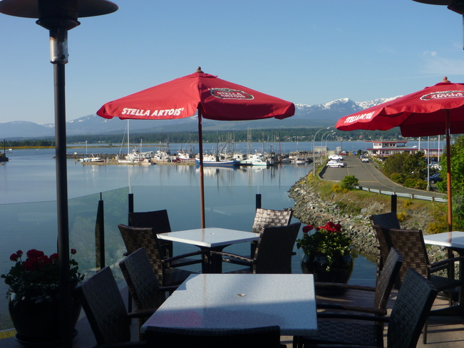 Patio at the Blackfin Pub Comox, British Columbia Canada