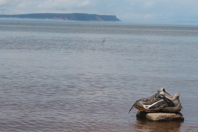 Sneaky Day at Evangeline Beach near High Tide Wolfville, Nova Scotia Canada
