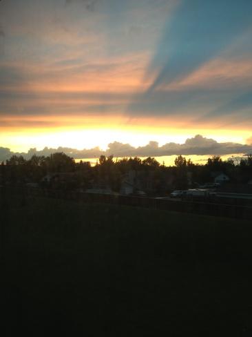 Pretty Sunset Airdrie, Alberta Canada