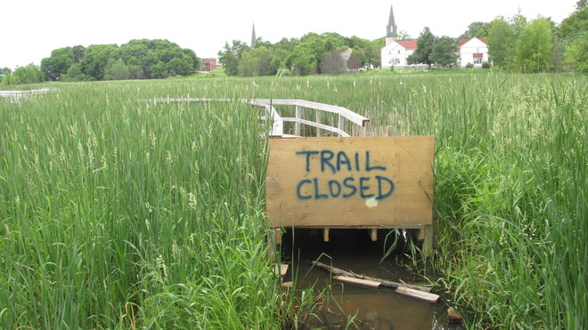 Closed Trail on Marshes Sackville, New Brunswick Canada