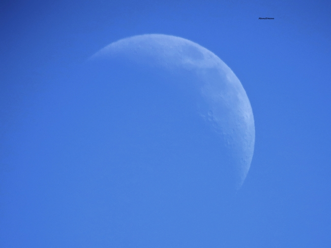 3 30 PM Moon New Westminster, British Columbia Canada