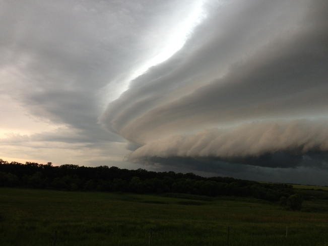 Incoming front from northwest Killarney, Manitoba Canada