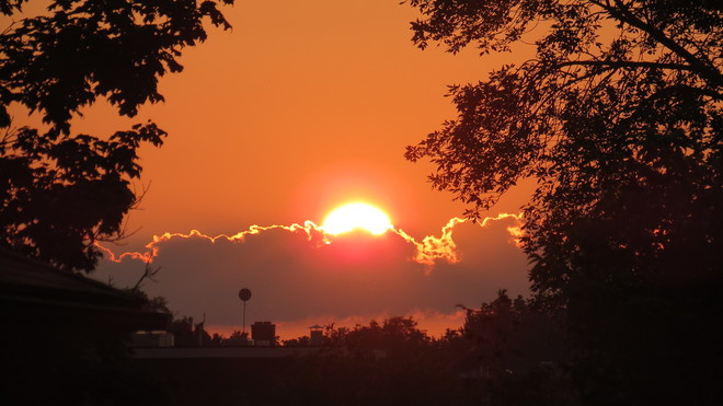 Sunrise For Another Hot Day Belleville, Ontario Canada