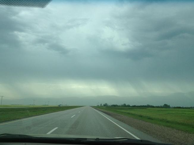 Looks like mountains in the horizon Regina, Saskatchewan Canada