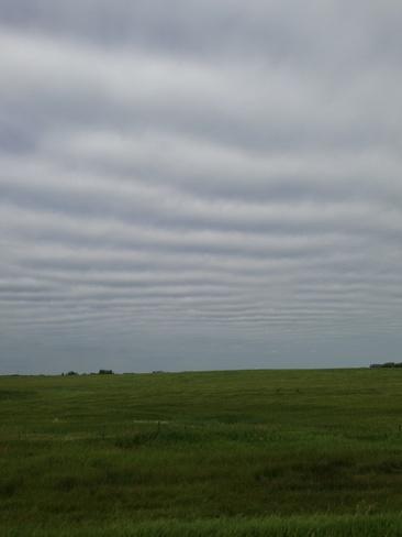 alittle waves in the sky. Yorkton, Saskatchewan Canada
