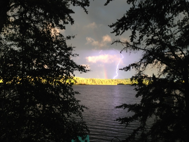 Lightning and Rainbows Swan River, Manitoba Canada