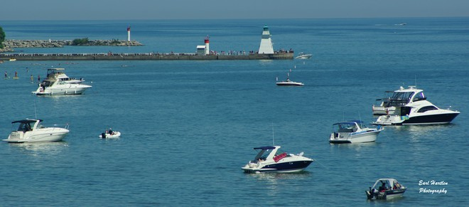 Lake Erie-Shared By Canada & The USA Port Dover, Ontario Canada