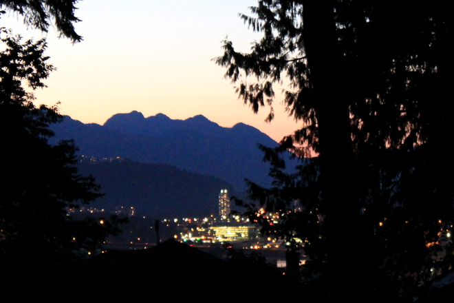 twilight Greater Vancouver, British Columbia Canada