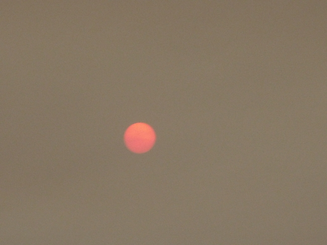 Red Sun in Morning Stephenville, Newfoundland and Labrador Canada