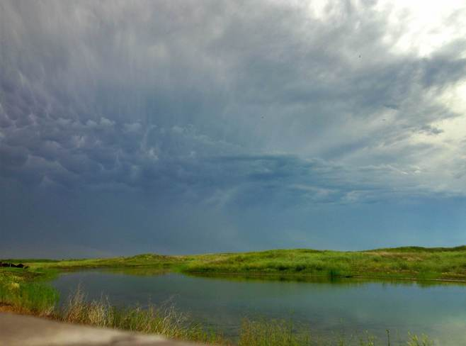 Storm Passing Niverville, Manitoba Canada