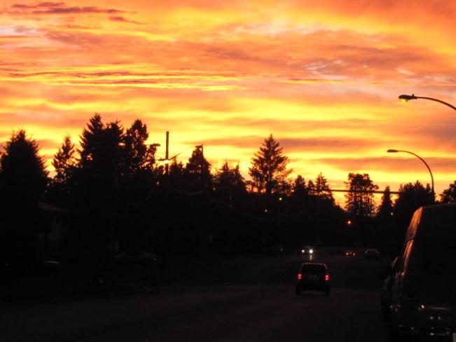 Sunset Courtenay, British Columbia Canada