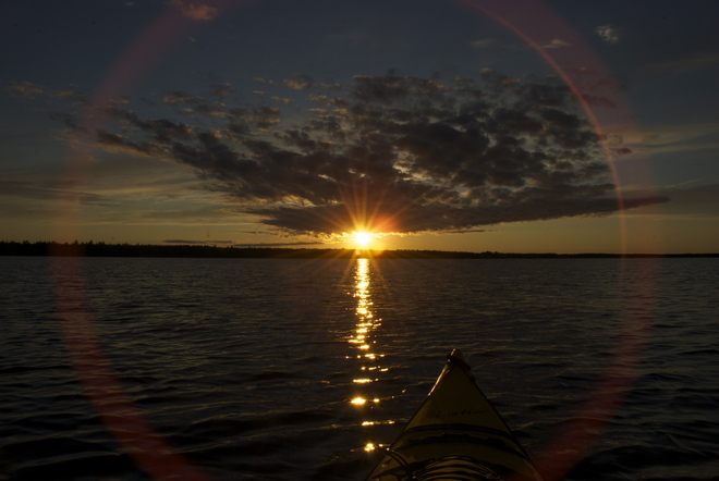 sunset from the yak Ste. Rose du Lac, Manitoba Canada