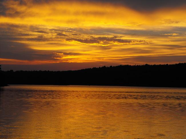 Sunset at Depot Lake ON Elliot Lake, Ontario Canada