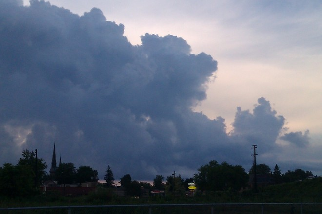Thunderstorm over St Lawrence Brockville, Ontario Canada