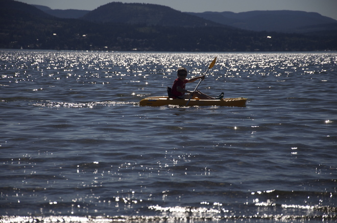 Kayaking in Patricia Bay North Saanich, British Columbia Canada