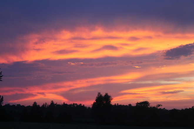 Sunset after storm Union, Ontario Canada