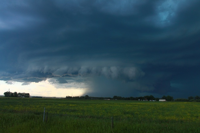 Severe storm approaching Lethbridge, Alberta Canada
