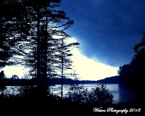 Storm rolling in Otter Lake, Quebec Canada