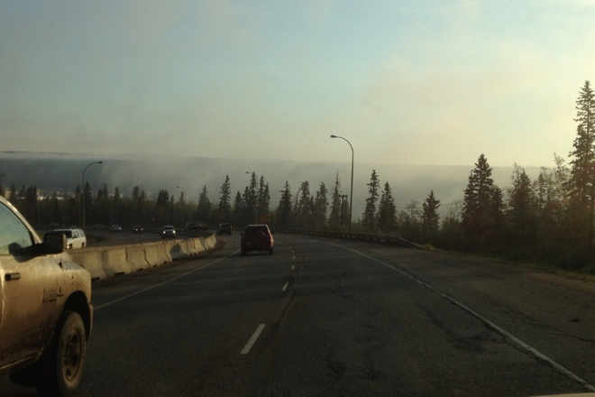 Morning haze in the fort Fort McMurray, Alberta Canada