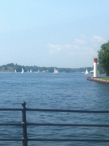 beautiful day on the water Brockville, Ontario Canada