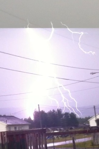 Big Lightning Bolt Hits Tobique 20, New Brunswick Canada