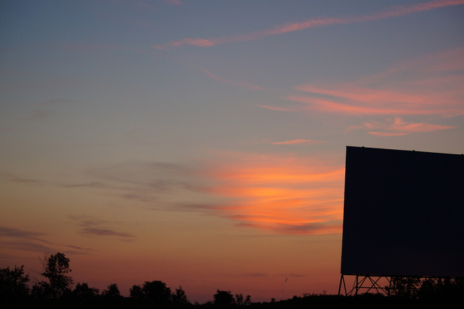 Sunset at the Drive In! Orillia, Ontario Canada
