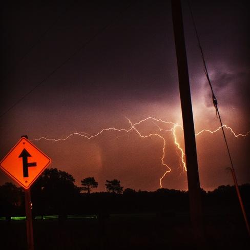 Lightning in Simcoe Simcoe, Ontario Canada