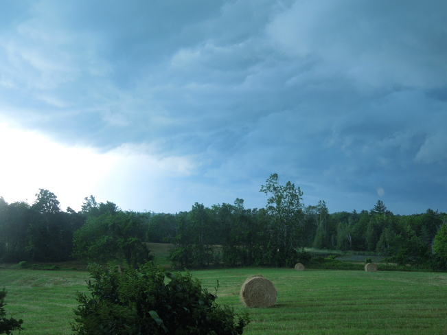 Storm coming over the Farm Napanee, Ontario Canada