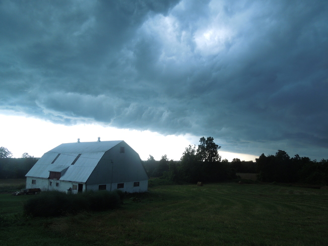 Storm clouds over the Barn Napanee, Ontario Canada