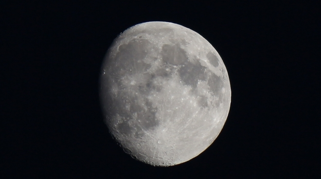 Waxing Gibbous Moon - 90% full. Prince George, British Columbia Canada