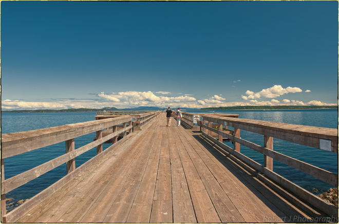 Walking the Pier Sidney, British Columbia Canada