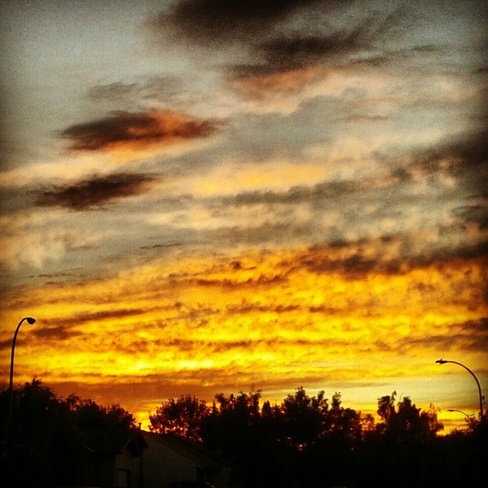 beautiful sunset and clouds Lethbridge, Alberta Canada