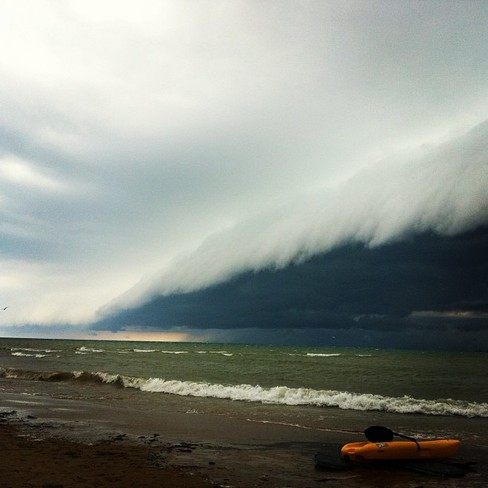 The wall of the storm Southampton, Ontario Canada