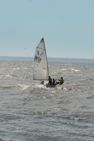 Sailing in strong waves Pointe-Claire, Quebec Canada