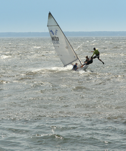 Sailing in the waves Pointe-Claire, Quebec Canada
