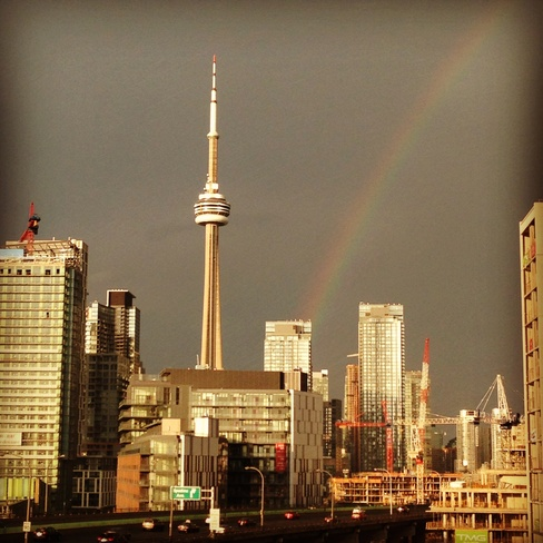 rainbow after the storm Toronto, Ontario Canada
