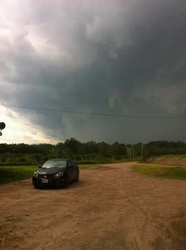 Yesterday before the storm hit Petawawa, Ontario Canada