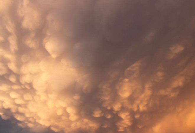 Mammatus Clouds over TO