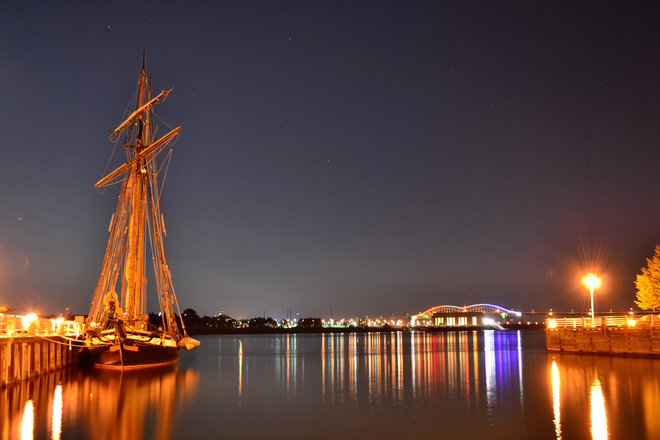Tall ships by Night Sault Ste. Marie, Ontario Canada